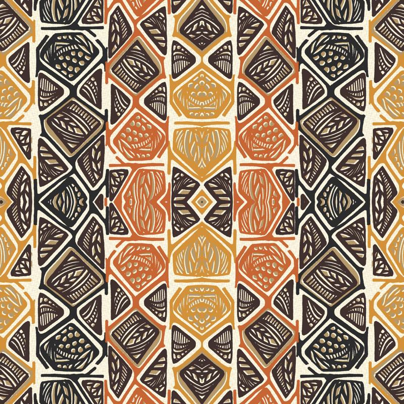 african-tribal-design-wallpaper-gillegg-spoonflower ...